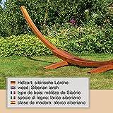 Großes & edles Hängemattengestell Madagaskar 400 cm | Holz wetterfeste sibirische Lärche - 4