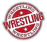 Wrestling Grunge Rubber Stamp Auto-Dekor-Vinylaufkleber 12 X 12 cm