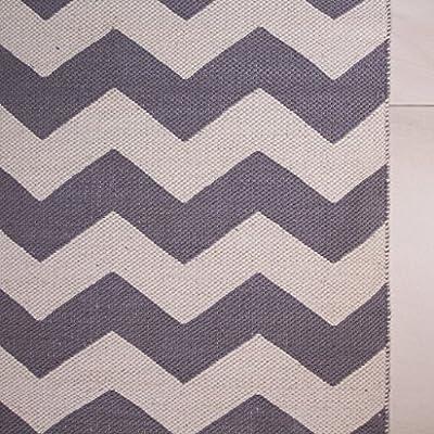 Pulse Grey Chevron Zig Zag Simple Geometric Pattern Contemporary Cotton Viscose Living Room Area Rug - inexpensive UK light shop.