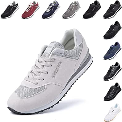 Scarpe Ginnastica Uomo da Sportive Scarpe da Running Sneaker Basse Donna Tennis Unisex Moda Sport Fitness Nero Blu Beige Rosso Taglia 36-48