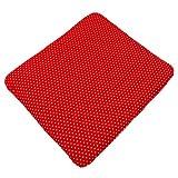 Sugarapple Wickelauflagenbezug rot mit weißen Sternen aus 100% Baumwolle, 85 x 75 cm, Öko-Tex Standard 100