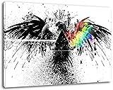 abstrakter Adler Format:60x40 cm Bild auf Leinwand bespannt, riesige XXL Bilder komplett und fertig gerahmt mit Keilrahmen, Kunstdruck auf Wand Bild mit Rahmen, günstiger als Gemälde oder Bild, kein Poster oder Plakat