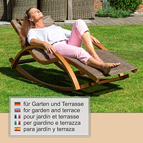 Relax Schaukelstuhl Rio | 100% wetterfeste Gartenliege - 8