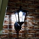 34cm klassische Außen Solar Wand Leuchte, schwarz, LEDs in weiß von Festive Lights