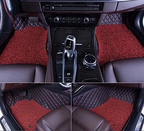 3D Auto Fußmatten Auto Fussmatten für Toyota EZ / LAND CRUISER / PRADO / CROWN / RAV4 / COROLLA EX / HIGHLANDER / LEVIN / CAMRY / COROLLA / VIOS Automatten Autogummimatten Mit einer Schicht Thermosol Coil Pad Wasserdicht 4 Farben Optionale Schwarz Mokka Braun Beige (Toyota Land Cruiser) (Toyota Camry Fußmatten Schwarz)