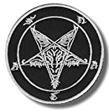 Baphomet, pentagram - embroidered patch, 8 X 8 cm.
