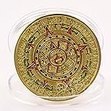 citipod (TM) plaqué or Calendrier Maya Aztèque Prophétie de monnaie Art Collection Cadeau