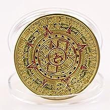 CitiPod (TM) chapado en oro Mayan Aztec Prophecy Calendario Moneda Conmemorativa Art Collection regalo