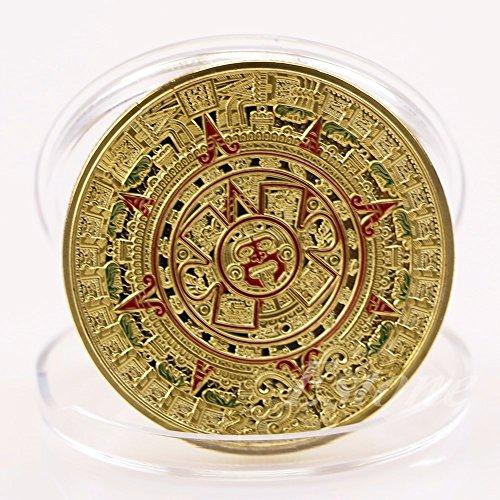 Mayan CitiPod (TM)-placcato Oro azteco Prophecy calendario Commemorative Coin Art Collection, confezione regalo