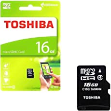 Toshiba 16GB MicroSD Memory Card (THN-M102 CL4 16GB)