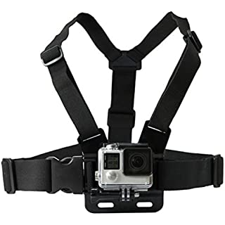 QuikProf GoPro Adjustable Chest Strap Mount Body Belt Harness for Gopro Hero, SJCAM, Yi   Other Action Cameras