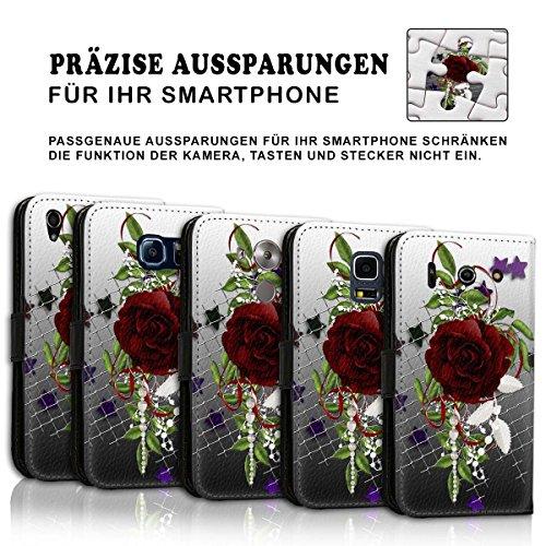 Wallet Book Style Flip Handy Tasche Case Schutz Hülle Schale Motiv Etui für Apple iPhone 6 Plus / 6S Plus - Variante UMV10 Design12 Design 7