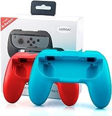 Ersatz Joy-Con-Griff für Nintendo Switch, Lammcou Ersatz Ergonomic Nintendo Joy Con Controller Griff Halterung Schutz Hülle Joy-Con-Griff Halter Zubehör für alle Nintendo Switch Konsole -Blau+Rot