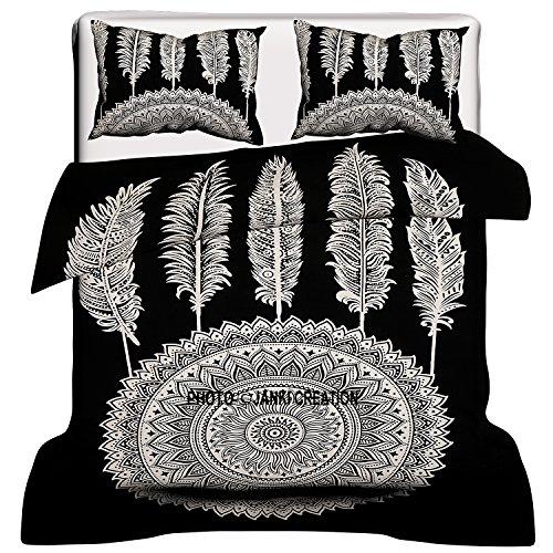 Copripiumino Dream Fun.Janki Creation Dream Catcher Black White Reversibile Copripiumino Con Federa Mandala Mandala Piumini Mandala Bedroom Decor Boho Comforter Cover