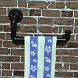 IX-1781 LOFT Style Old Industrial Creative Design Wall Mounted Towel Bar Hanger,Black