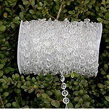 Décoration 30m / 99ft plastique acrylique lustre en cristal Perles Mariage