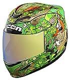 Icon Airmada Lepricon verde moto casco