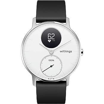 Nokia health Steel HR Reloj, Unisex Adulto, Blanco, 36mm