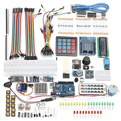 KIT STARTER ARDUINO UNO R3 Scheda Chip LCD DIY Cavo USB ACCESSORI MOTORE 2018