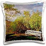Danita Delimont - New Hampshire - New Hampshire, Sugar Hill, Bench - US30 SPE0010 - Susan Pease - 16x16 inch Pillow Case (pc_92445_1)