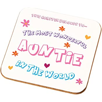 Gifts For Aunties Coaster Gift Most Wonderful Auntie In The World From Nephews Nieces Birthday Christmas All Occasions Comes A
