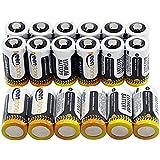 Keenstone CR123A Batteries lithium cylindrique jetable de haute performance pour Lampe de poche ...