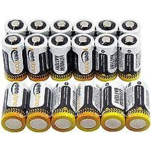 Keenstone N°18 CR123A Batteria a Litio Lithium Cilindriche Monouso ad Alte Prestazioni, Non Ricaricabili, Ideale (Batterie Carry Di Sistema)