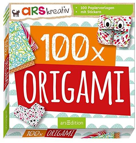 100 x Origami: mit 100 bunten Papiervorlagen, mit Stickern