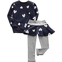 De feuilles CHIC-CHIC Ensemble Fille Bébé 2pc T-shirt Pull-over+ Pantalons Jupe Pull Longues Manches Haut Sweat-shirt
