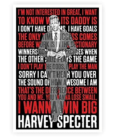 4 Iu0027m Not Interested In Great Harvey Specter Inspirational Quote In A3 Size  Poster: Amazon.de: Küche U0026 Haushalt