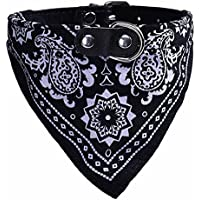 Ducomi® Adjustable Bandana for Dogs and Cats - Simpatic Accessory for Your Dog and Your Cat (M, Black)