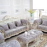 SE7VEN Estilo europeo Cojines de sofá, Moderno Simple Toalla de sofá Felpa Tela Anti-que pat...