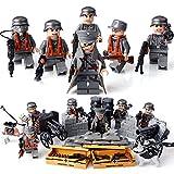 EDCAA Mini Figuren Set- 8 Stück Armee Minifiguren, Armee Minifiguren Soldat mit militärischen Waffen Zubehör Soldat Minifiguren Spielzeug Bausteine 100% kompatibel