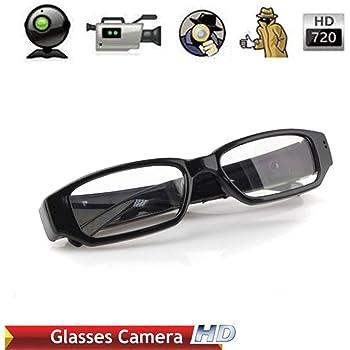 Electro-Weideworld - 720P HD Espía Gafas Cámara , Gafas con Cámara Mini DV Videocámara Grabador de Vídeo Digital Cámara