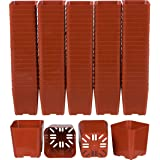 MosQuick® 3 inches Plastic Nursery Seed Seedling Germinating Pots Cup Set Plant Pot, Set of 25 Pcs (Terecotta)
