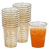 50 Gobelets/Verres Jetables en Plastique de 10 oz (300 ML) - Idéal pour Les Dîners, Anniversaires, Mariages, Fête Prénatales, et Plus Encore