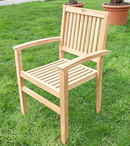 AS-S TEAK Design Gartensessel Gartenstuhl Sessel Holzsessel Gartenmöbel Holz geölt sehr robust Modell: MIAMI von AS-S