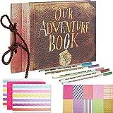 SAIKA Abenteuer Buch Pixar Up handgemachte DIY Familie Sammelalbum Fotoalbum Zubehör Set-Buch-Album, 5 x Textmarker, Corner Aufkleber und Film Aufkleber.