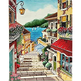 YH-Arts 11x14 Summer Steps, Multicolour, 35x28x1 cm