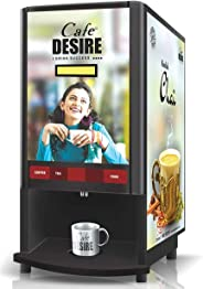 Cafe DESIRE Coffee and Tea Vending Machine with 1 kg Premix (Multicolour)
