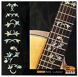 Marqueurs de palissandre incrustation Autocollant Stickers pour guitare-d'enroulement Vine W/Bird