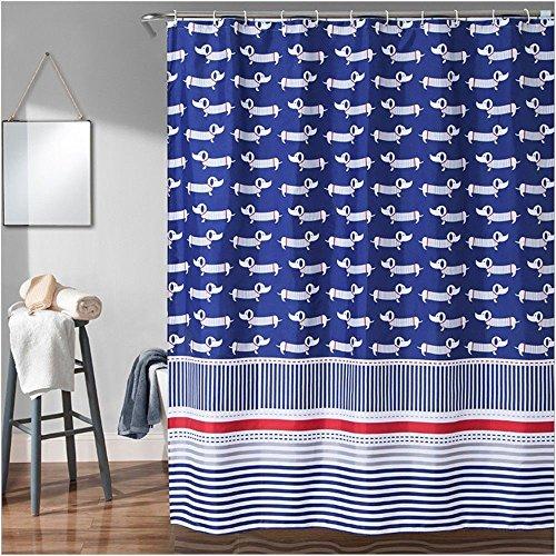 JYJSYM duschvorhang, Wasserdicht und schimmel Einen duschvorhang, Bad, Polyester duschvorhang, Haken und 180x180cm Dusche duschvorhang,c,300x200cm