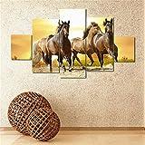 ecmqs 5pcs sin marco moderno caballo pintura al óleo de impresión de Lienzo pared arte decoración para el hogar regalo
