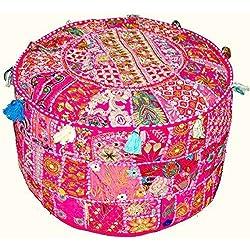 """Tradicional india indio Vintage Patchwork Otomano Puf infantil con diseño 13x 18"""""""