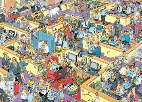 Imagen principal de Jumbo Jan van Haasteren - Puzzle gigante de 1000 piezas dibujo de oficina