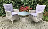 Mandalika Garden 5-Teiliges Poly Rattan Balkon Set Marbella Hypnotic Grey