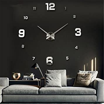 yosso diy 3d horloge murale design géante grande taille moderne