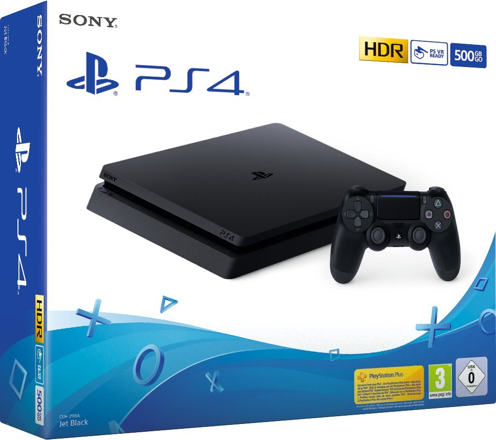 Sony PlayStation 4 Slim 500GB Negro Wifi – Videoconsolas (PlayStation 4, Negro, 8192 MB, GDDR5, GDDR5, AMD Jaguar)