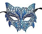 Masquerade Maske Halloween Maske Spitze venezianischen Mardi Gras Maske für Frauen Einheitsgröße blau