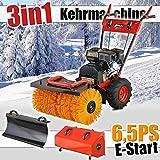Kehrmaschine 6,5 PS mit Elektrostarter Benzin Schneeschieber Motorbesen